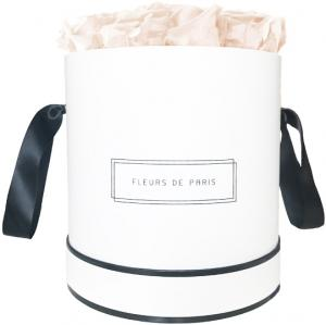 Infinity Collection Pastelle Peach Large white - round