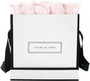 Infinity Collection Pastelle Pink Large white - square