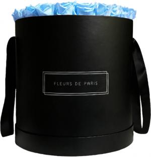 Infinity Collection Baby Blue Luxe black - round