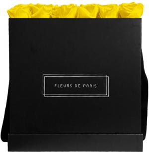 Infinity Collection Sunny Yellow Luxe black - square