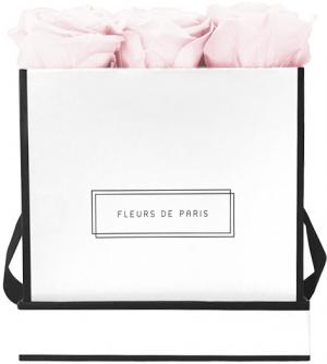 Infinity Collection Pastelle Pink Medium white - square