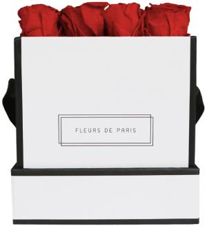 Petite Rose Edition Royal Red white - square