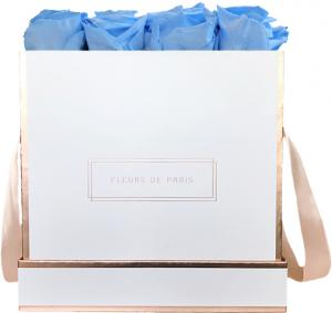 The Rosé Gold Collection Baby Blue Large white - square