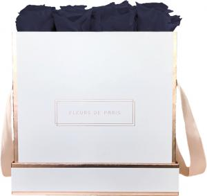 The Rosé Gold Collection Midnight Blue Large white - square