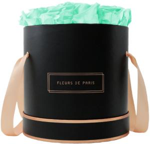 The Rosé Gold Collection Minty Green Large black - round