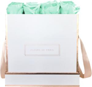 The Rosé Gold Collection Minty Green Large white - square