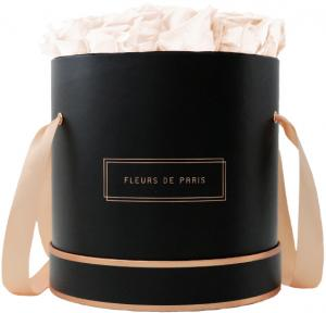 The Rosé Gold Collection Pastelle Peach Large black - round