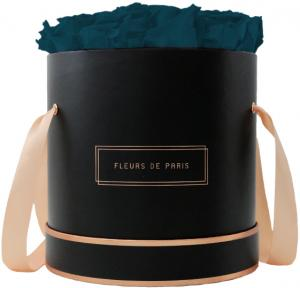 The Rosé Gold Collection Petrol Large black - round