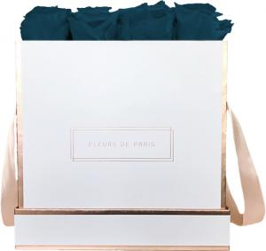 The Rosé Gold Collection Petrol Large white - square