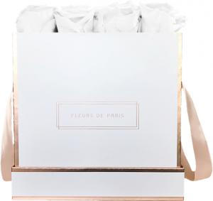 The Rosé Gold Collection Pure White Large white - square