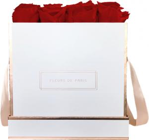The Rosé Gold Collection Royal Red Large white - square