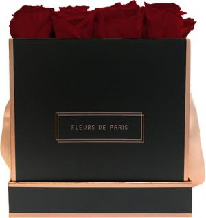 The Rosé Gold Collection Ruby Red Large black - square
