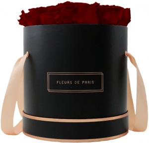 The Rosé Gold Collection Ruby Red Large black - round