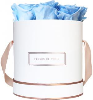 The Rosé Gold Collection Baby Blue Medium white - round