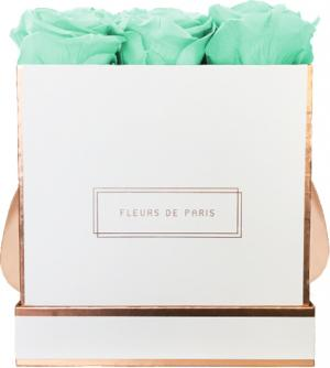 The Rosé Gold Collection Minty Green Medium white - square