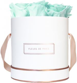 The Rosé Gold Collection Minty Green Medium white - round