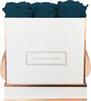 The Rosé Gold Collection Petrol Medium white - square