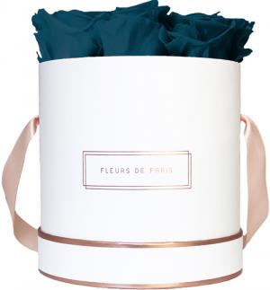 The Rosé Gold Collection Petrol Medium white - round