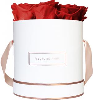 The Rosé Gold Collection Royal Red Medium white - round