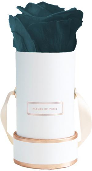 The Rosé Gold Collection Petrol Mini white - round