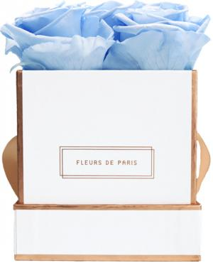 The Rosé Gold Collection Baby Blue Small white - square