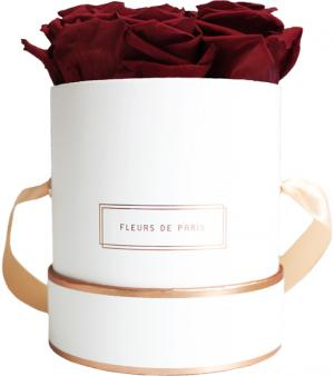 The Rosé Gold Collection Burgundy Small white - round