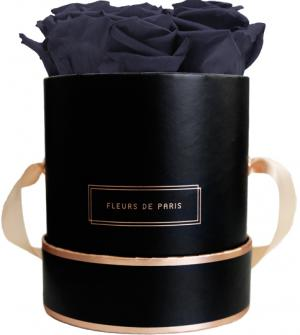 The Rosé Gold Collection Midnight Blue Small black - round