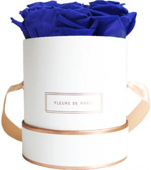 The Rosé Gold Collection Ocean Blue Small white - round