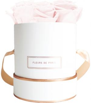 The Rosé Gold Collection Pastelle Pink Small white - round