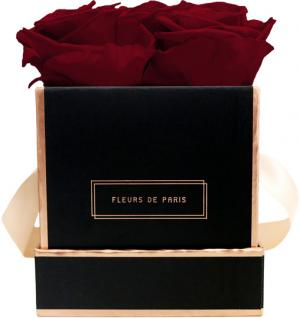 The Rosé Gold Collection Ruby Red Small black - square